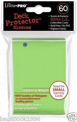 Ultra Pro 60 Small Size Solid Lime Green Deck Protector Sleeves