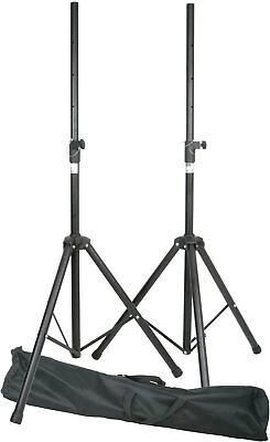 QTX 180.550 Pair Speaker Stands Kit Package with Carry Bag Holds Max 35KG