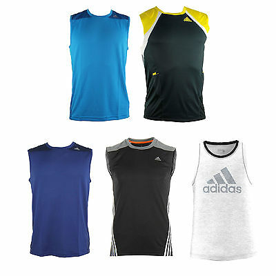 adidas Performance men's running shirt Sports Training Top Sleeveless Tank