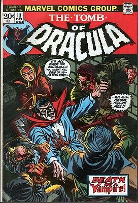 Marvel The Tomb of Dracula #13 (1973) .. Blade Origin - No stock images