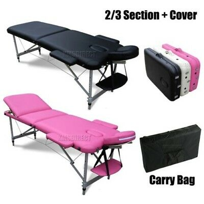 Lightweight Portable Folding Alu Massage Table Beauty Tattoo Therapy Couch Bed