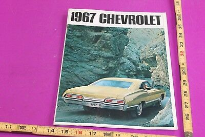 1967 Chevrolet Brochure. 32 pgs. Some wear. See pics for condition.