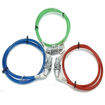 Mean Machine 4 digit Bike Combinaton Chain Cable Locks in Red Green and Blue