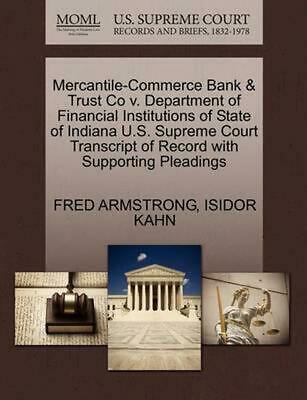 Mercantile-Commerce Bank & Trust Co v. Department of Financial Institutions of S