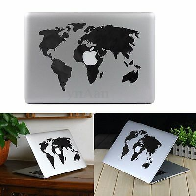 Carte du Monde Decal Sticker Autocollant Décor Pr Macbook PC Pro Air 13'' - 17''