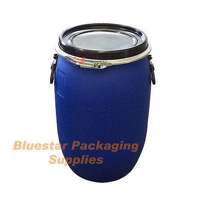 30L Litre Ltr Open Top Plastic Storage Drum Barrel Keg With Lid * Brand New *
