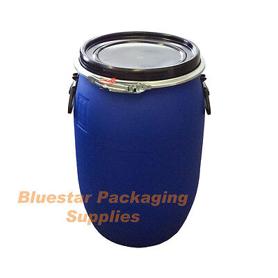 30L Litre Open Top Plastic Storage Drum Barrel Keg With Lid Food Grade * New *