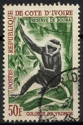 Ivory Coast 1963 SG#236, 50f Wildlife Colobus Used #D1069