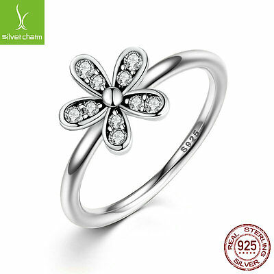 Cyber Monday Promotion,925 Sterling Silver Daisy Flower Finger Ring Free Shiping