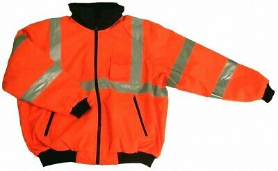 Ansi Class 3 Safety Bomber Jacket Orange 28-5953 Small