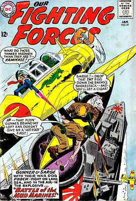 OUR FIGHTING FORCES #81 VG, Gunner & Sarge, DC Comics 1964
