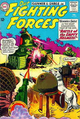 OUR FIGHTING FORCES #82 VG, Gunner & Sarge, DC Comics 1964