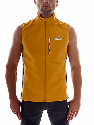 Maloja Functional vest Softshell vest OmarM. yellow windproof Stormstopper