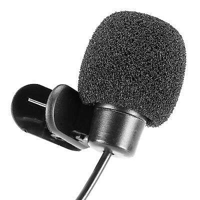 3.5mm Hands Free Computer Clip on Mini Lapel Microphone