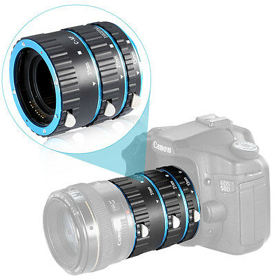 Neewer Extension Tube Set for Canon EOS DSLR Lens, Extreme Close-Ups (Blue)