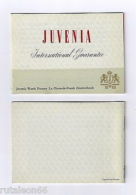 JUVENIA 100% genuine vintage papers international guarantee UNUSED 7 languages