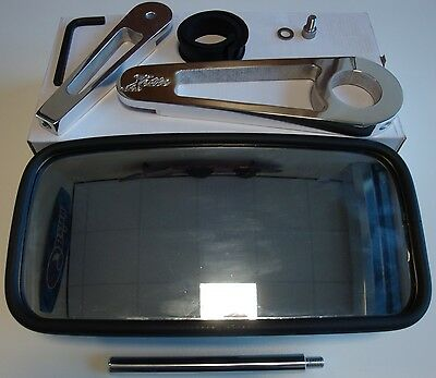 """Waterski Wakeboard Tower Boat Rear View Mirror 7""""x13"""" (18cm x 33cm) fits 2"""" Tube"""