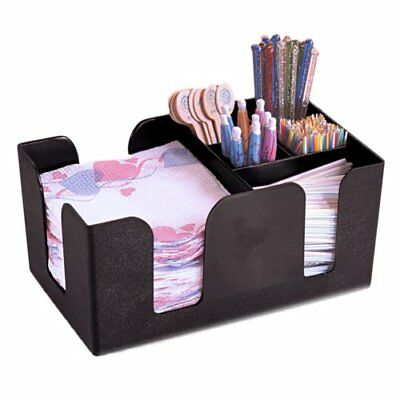 American Metalcraft BAR6 Plastic Bar Organizer, Black New