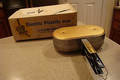VINTAGE C. PALMER MANUFACTURING 1000 GT PIZZELLE IRON GOOD INn BOX