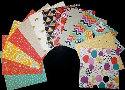 "*SUNBURST* Bright Colourful Scrapbooking/Cardmaking Papers- 15cm x15cm (6"" x 6"")"