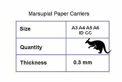 A3 A4 A5 A6 ID  CC laminating pouch carriers paper sheet Marsupial pouches