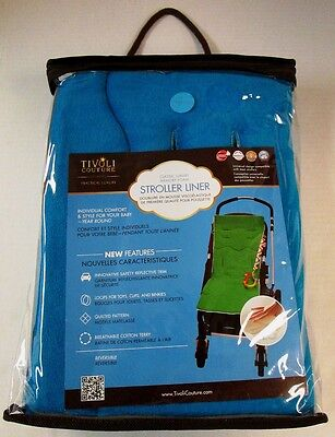Tivoli Couture Blue Memory Foam Stroller Liner (NEW)