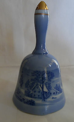 Vintage Currier & Ives Copenhagen American Treasury 1977 Collector Bell Japan