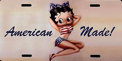 "Betty Boop American Made Color Photo License Plate 12""x6"" QUALITY ALUMINUM"