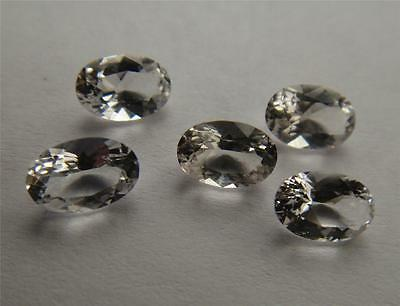 5 MATCHING Faceted Herkimer Diamond from NY - ALL 6x4 Oval Cut - 1.8 Carats AAA