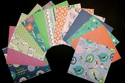 """*DAYDREAM* Colourful Scrapbooking/Cardmaking Papers  - 15cm x15cm (6"""" x 6"""")"""