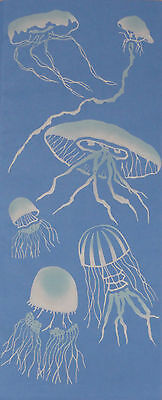 Tenugui Cloth Japanese Cotton Jellyfish Fabric