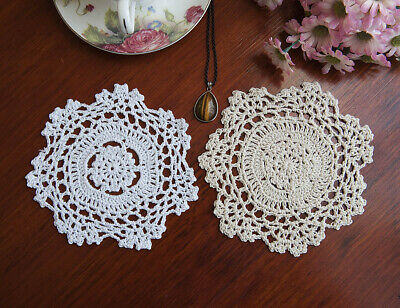 Cotton Hand Crochet Lace Doily Doilies Place mat Round 15CM Multicolour FP02