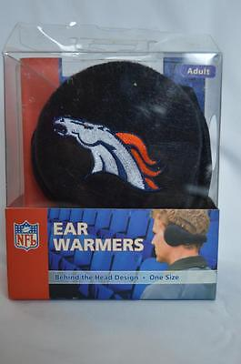Broncos Ear Warmers Adult Behind The Head Design Officially Licensed