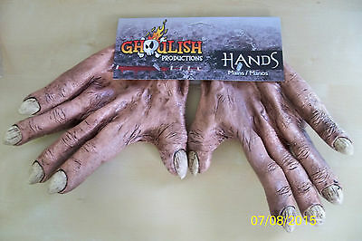 Adult Monster Flesh Latex Hands Gloves Costume Accessory Tb25356