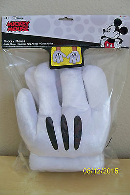 Adult Disney Mickey Mouse Gloves Hands Costume Accessory Dg85582Ad
