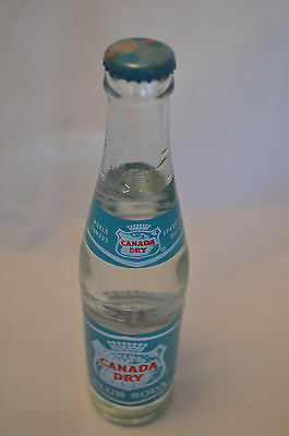 1977 Canada Dry Club Soda Bottle with Original Contents and Cap! 10oz EXCELLENT!