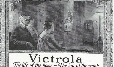 1918 Advertisement ~ VICTOR VICTROLA Phonograph For Home & WWI Soldiers too