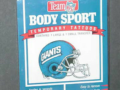 Nfl New York Giants Temporary Fingernail Tattoos Fast Free Shipping
