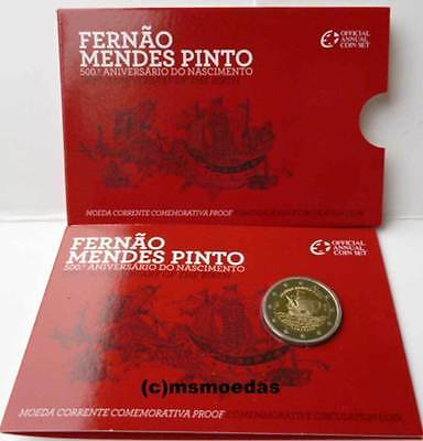 Portugal 2 Euro Gedenkmünze 2011 Pinto Coin Set Blister Official Euromünze Proof