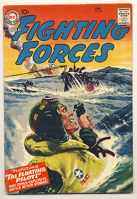 OUR FIGHTING FORCES #20 VG, Greytone cover, DC Comics 1957