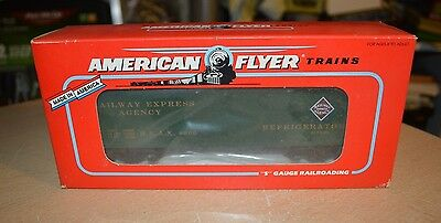 American Flyer S Gauge Railway Express Agency Refrigerator Car 6-48806 NEW IN BO