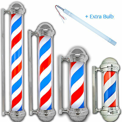 Barber Shop Pole red white blue Rotating Light Stripe Sign Hair EXTRA BULB Store