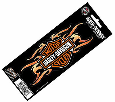 Harley Davidson Holographix Tribal Flames Bar & Shield Decal * Made In The Usa *