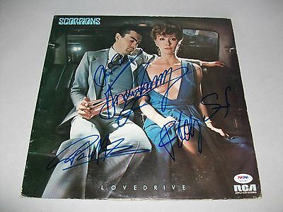 """SCORPIONS signed autographed """"LOVEDRIVE"""" LP RECORD PSA/DNA LOA!"""