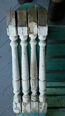 19th century balusters balustrade with paint 4