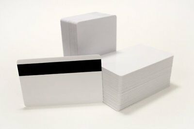 250 CR80 30Mil Blank White PVC Plastic Credit, Gift, Photo ID Cards With HiCo