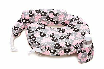 Zenoff Products Nursing Pillow Slipcover, Pocket of Posies, Grey, Pink, Black