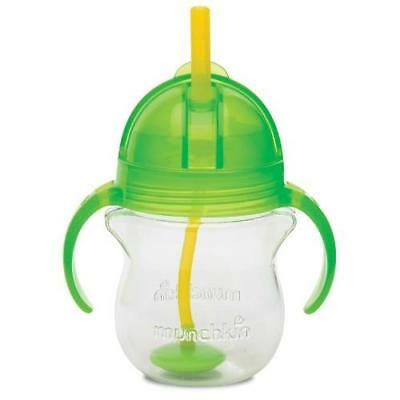 Munchkin Click Lock Weighted Flexi-Straw Cup, Colors May Vary 7 oz New