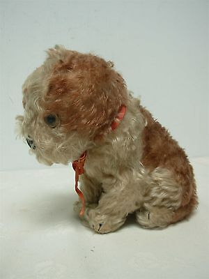 """Vintage Steiff Sitting Dog Made In Us Zone Germany Label 7 1/2"""" Is This Molly"""