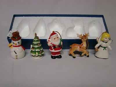 Mr. Christmas Tree Ornaments in Box Lot of 5